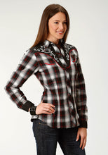 Karman Special Styles Polyc Womens Long Sleeve 1941 Black White Red Plaid