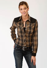 Karman Special Styles Polyc Womens Long Sleeve 0134 Brown And Black Plaid