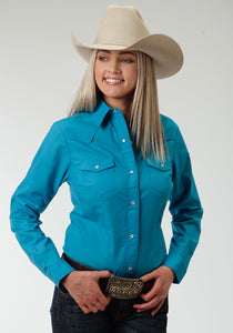 Karman Special Styles Polyc Womens Long Sleeve 0735 Solid Broadcloth - Turquoise