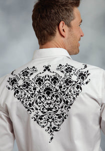 Old West Collection- Spring Iii Oldwest Mens Long Sleeve Shirt Creeping Vine