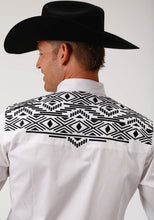 Old West Collection Oldwest Mens Long Sleeve Shirt 1692 Aztec Yokes