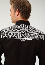 Old West Collection Oldwest Mens Long Sleeve 1883 Aztec Embroidery