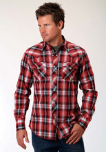 Performance Collection Westm Mens Long Sleeve Shirt 0851 Red Chili Plaid