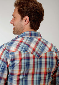 Performance Collection Westm Mens Long Sleeve Shirt 0852 Highway Plaid