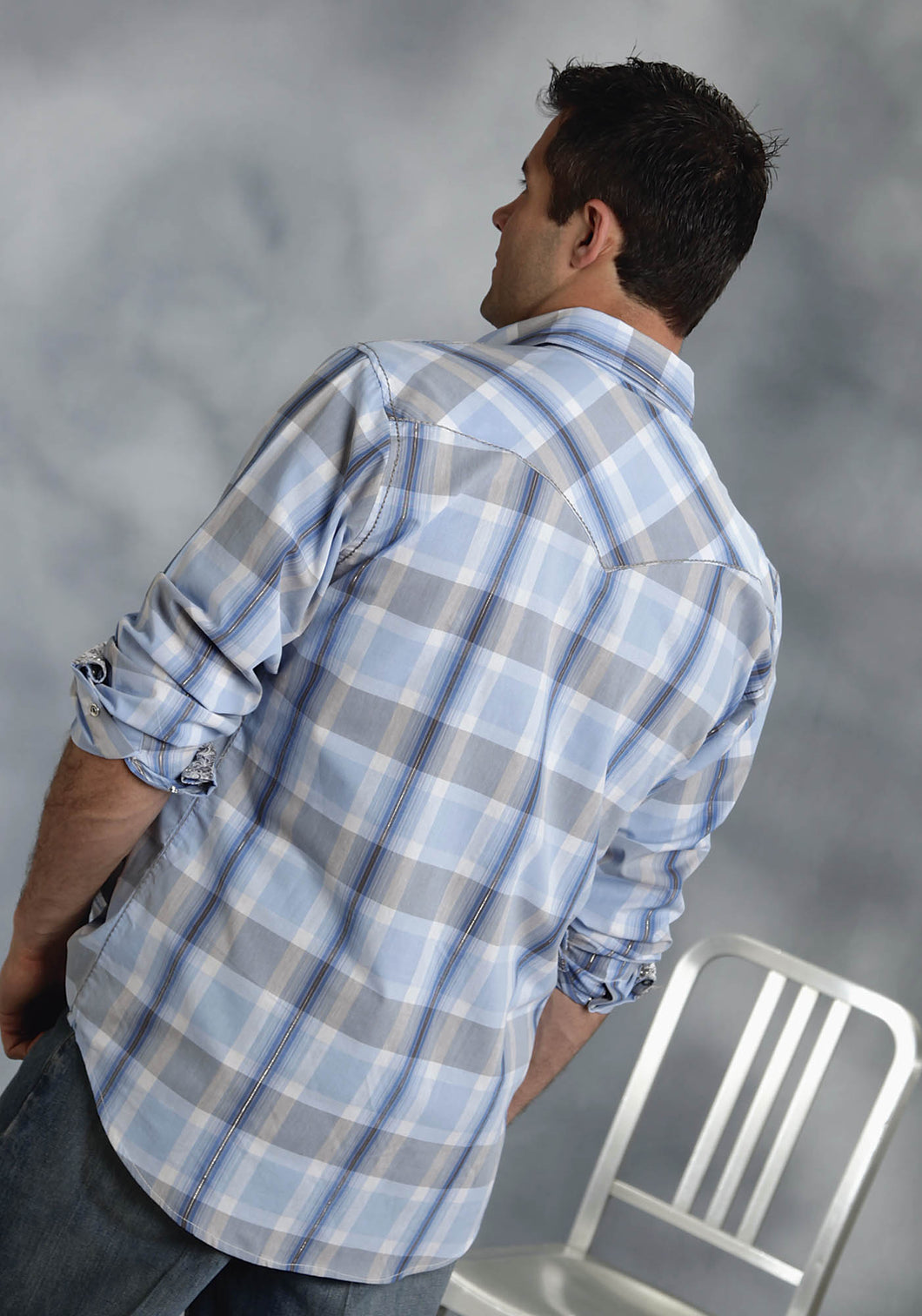 Performance Collection Westm Mens Long Sleeve Shirt 9531 East La Plaid