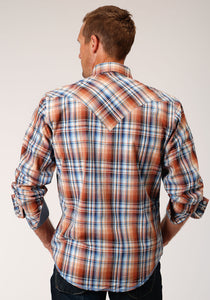 West Made Collection Westm Mens Long Sleeve 00076 Meadow Plaid