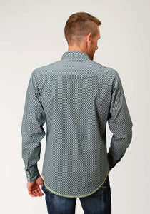 West Made Collection Westm Mens Long Sleeve 2610 Diamond Geo
