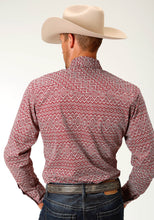 West Made Collection Westm Mens Long Sleeve 2611 Red River Geo