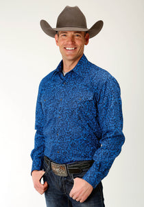 Men's Amarillo Collection- Shadow Lake Amarillo Mens Long Sleeve 2240 Western Floral