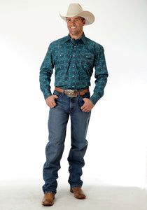 Men's Amarillo Collection- Prairie Wind Amarillo Mens Long Sleeve Shirt 0836 Turkish Medallion