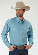 Men's Amarillo Collection- Prairie Wind Amarillo Mens Long Sleeve Shirt 0837 Florentine Print