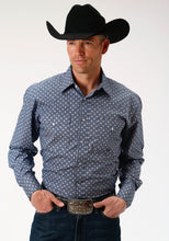 Men's Amarillo Collection- Indigo Trail Amarillo Mens Long Sleeve Shirt 1519 King Of Diamonds