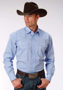 Men's Amarillo Collection- Black Jack Amarillo Mens Long Sleeve Shirt 0971 Chain Link