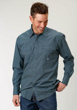 Amarillo Collection- Tall Pine Amarillo Mens Long Sleeve 1874 Square Peg Geo