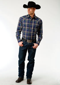 Men's Amarillo Collection- Winter Plum Amarillo Mens Long Sleeve Shirt 1260 Grape Plaid