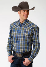 Men's Amarillo Collection- Meadow Amarillo Mens Long Sleeve 1288 Meadow Plaid