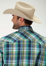 Men's Amarillo Collection- Prairie Wind Amarillo Mens Long Sleeve Shirt 0830 Water Check Plaid