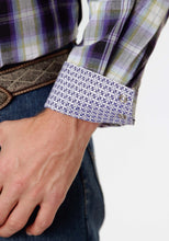 Men's Amarillo Collection- Bridle Path Amarillo Mens Long Sleeve Shirt 0834 Driftwood Plaid