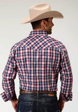 Men's Amarillo Collection- True Blue Amarillo Mens Long Sleeve 3304 New England Plaid