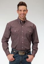 Men's Amarillo Collection- Brick Mortar Amarillo Mens Long Sleeve Shirt 0544 Honeycomb Foulard