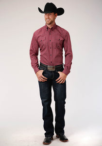 Men's Amarillo Collection - Red Ridge Amarillo Mens Long Sleeve 00270 Red Foulard