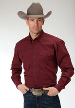 Men's Amarillo Collection- Brick Mortar Amarillo Mens Long Sleeve Shirt 0709 Black Fill Poplin - Brick