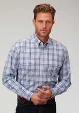 Men's Amarillo Collection- Agate Stone Amarillo Mens Long Sleeve Shirt 1522 Coal Creek Check