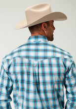 Men's Amarillo Collection- Clear Sky Amarillo Mens Long Sleeve 2450 Breeze Plaid