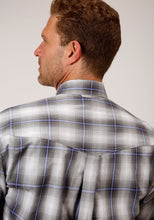 Men's Amarillo Collection- Dusk Amarillo Mens Long Sleeve 00022 Gray Shadow Plaid