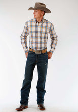 Men's Amarillo Collection- Sundown Amarillo Mens Long Sleeve Shirt 0965 Canyon Ombre Plaid