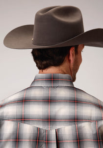 Men's Amarillo Collection- Red Ridge Amarillo Mens Long Sleeve 00272 Smoke Ombre Plaid