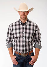Men's Amarillo Collection- Charcoal Embers Amarillo Mens Long Sleeve 9615 Vintage Plaid