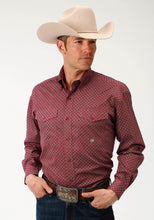 Men's Amarillo Collection- Red Mesa Amarillo Mens Long Sleeve Shirt 1516 Vintage Foulard