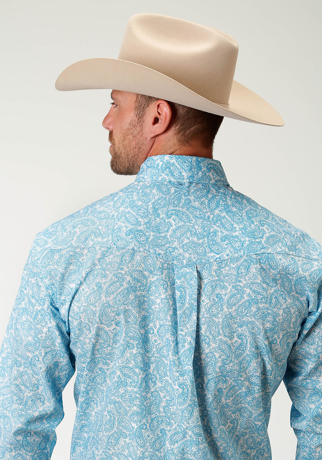 Men's Amarillo Collection- Clear Sky Amarillo Mens Long Sleeve 2433 Ski Paisley