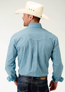 Men's Amarillo Collection- Clear Sky Amarillo Mens Long Sleeve 2451 Sky Check