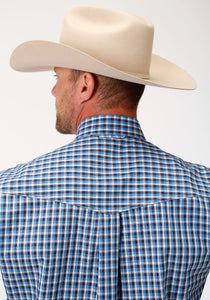 Men's Amarillo Collection- Heritage Amarillo Mens Long Sleeve 00021 Americana Check