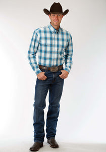 Men's Amarillo Collection- Blue Jay Amarillo Mens Long Sleeve Shirt 1183 Blue Jay Ombre
