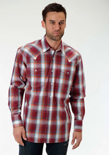 Men's Amarillo Collection- Crossfire Amarillo Mens Long Sleeve Shirt 0832 Vista Plaid