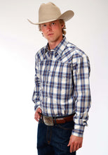 Men's Amarillo Collection- Old Glory Amarillo Mens Long Sleeve Shirt 1180 Winchester Plaid