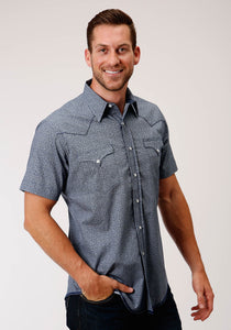 West Made Collection Westm Mens Short Sleeve 00180 Aztec Texture