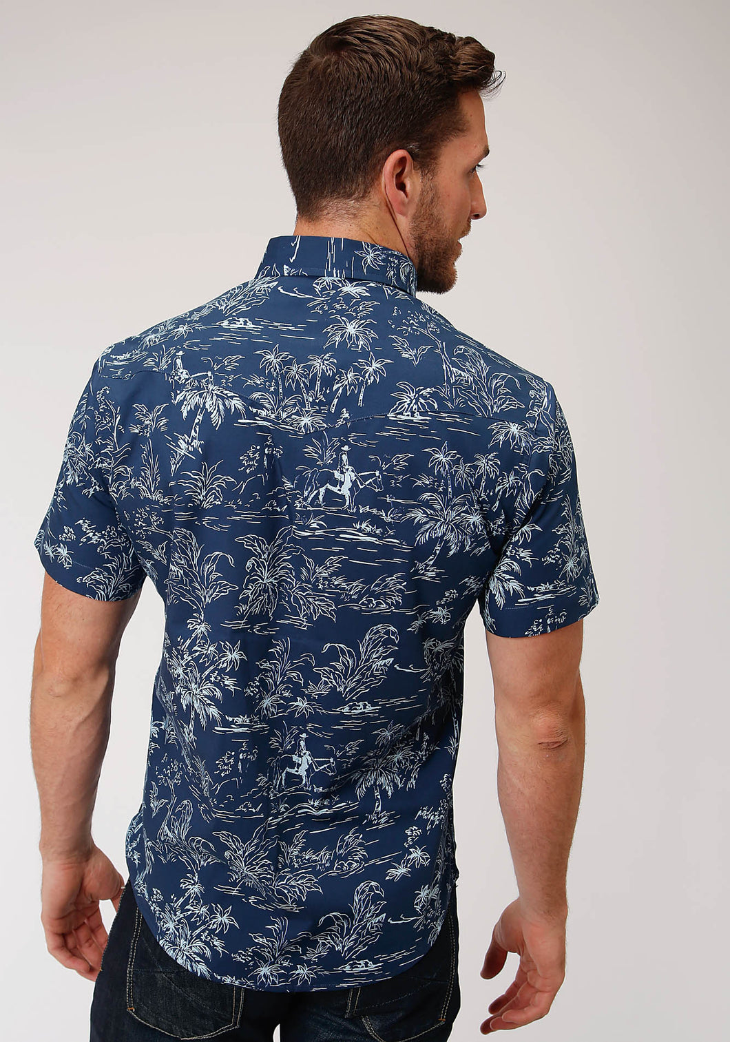 West Made Collection Westm Mens Short Sleeve 00181 The Tropics Print