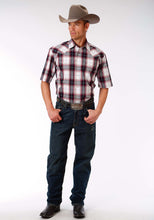 Men's Amarillo Collection- Black Jack Amarillo Mens Short Sleeve Shirt 0968 Red Rock Plaid
