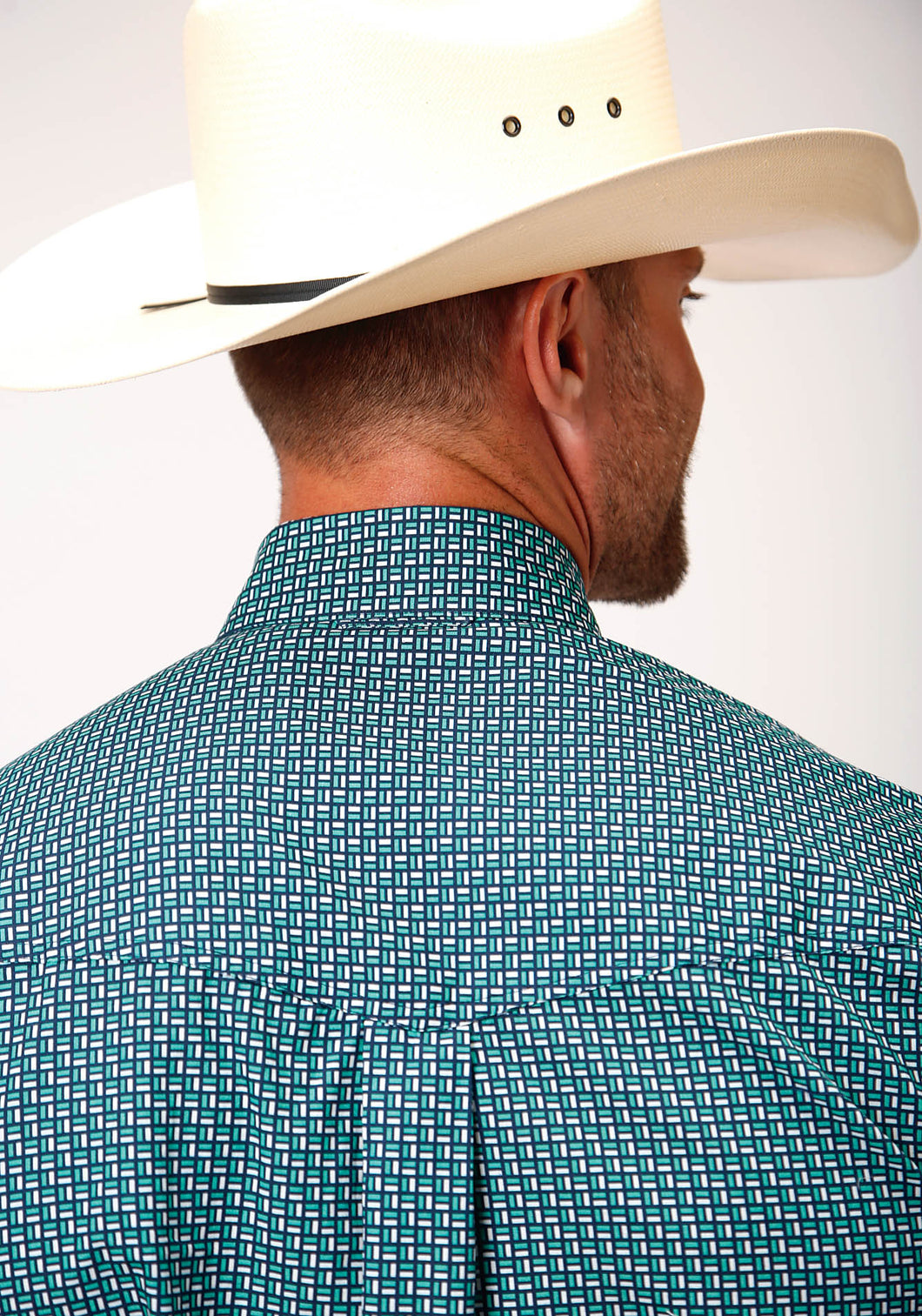 Men's Amarillo Collection - Blue Ridge Amarillo Mens Short Sleeve 00151 Meadow Geo