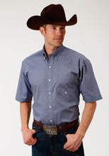 Men's Amarillo Collection- Agate Stone Amarillo Mens Short Sleeve Shirt 1521 Purple Geo