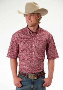 Men's Amarillo Collection- Summer Picnic Amarillo Mens Short Sleeve Shirt 0393 Vintage Tapestry