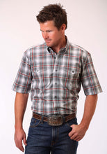 Men's Amarillo Collection- Crossfire Amarillo Mens Short Sleeve Shirt 0833 Shadow Plaid