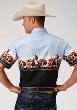 West Made Collection Westm Mens Short Sleeve 3876 Cattle Drive Border