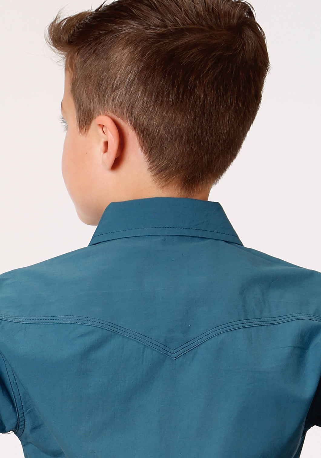 West Made Collection Westm Boys Long Sleeve 1418 Solid Poplin - Teal