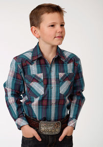 Performance Collection Westm Boys Long Sleeve Shirt 1253 Cider Check
