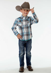 Performance Collection Westm Boys Long Sleeve Shirt 0849 Aviator Plaid
